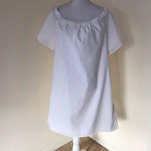 Banana Republic XL white cotton off shoulder dress